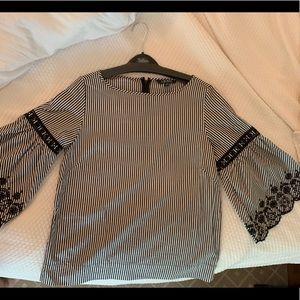 Ralph Lauren black and White Striped shirt